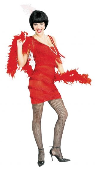 Roarin Red Flapper Dress, Adult