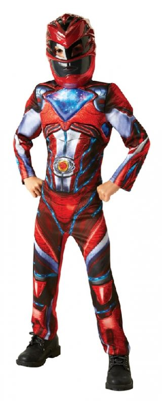 POWER RANGERS RED DELUXE COSTUME, CHILD