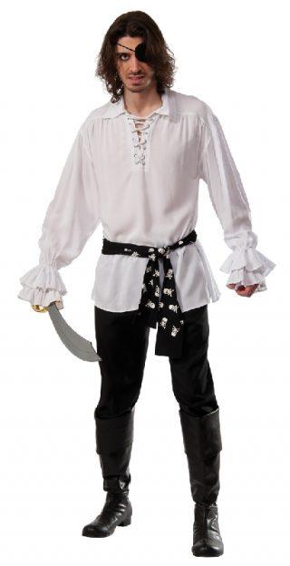 Cotton Pirate Shirt White, Adult