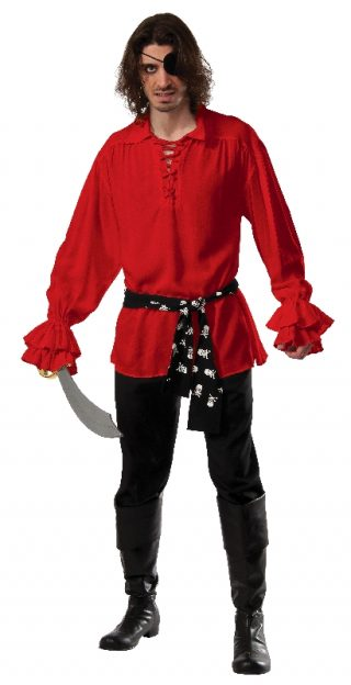 Cotton Pirate Shirt Red, Adult
