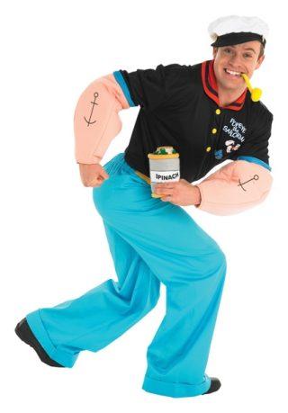 Popeye Deluxe Costume, Adult